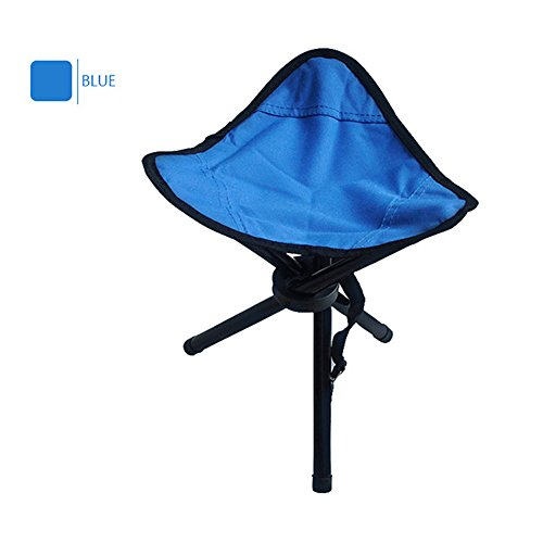 Ezyoutdoor Foldable Stool for Fishing Outdoor Camping Stools Portable Sturdy Folding Stools Chairs for Adults Teens Kids Supports 220 Pounds Large Size (Blue)