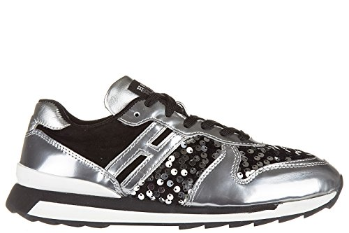 Hogan Rebel Damenschuhe Turnschuhe Damen Leder Schuhe Sneakers r261 allacciato S