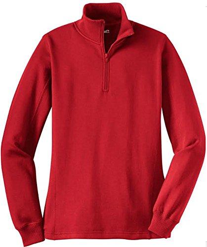 Joe's USA Ladies Soft & Cozy Athletic 1/4-Zip Sweatshirts in Sizes XS-4XL -