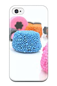 Durable Protector Case Cover With Candy Hot Design For Iphone 4/4s With Free Screen Protector