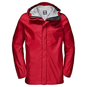 Jack Wolfskin Men's Cloudburst Jacket, Ruby Red, X-Large