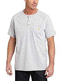 Men's Force Cotton Short Sleeve Henley Relaxed Fit