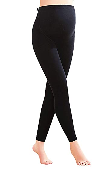 42ea2a73ae3b7 LEBOLONG Adjustable High Waist Stretchy Maternity Legging Pants for  Expecting Moms (Small,Black)