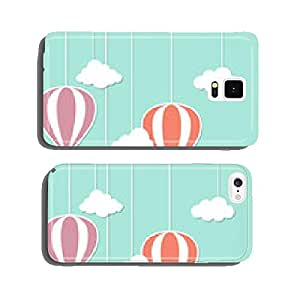 Hot air baloons and clouds in paper cutout style cell phone cover case iPhone6 Plus