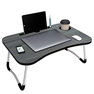 Story@Home foldable portable adjustable multifunction laptop study lapdesk table for breakfast serving bed tray office…