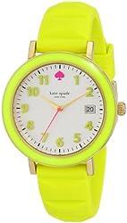kate spade new york Women's 1YRU0413 Metro Yellow Watch