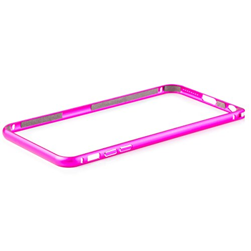 Apple iPhone 6 / 6S + PLUS (5,5 pouces) | iCues aluminium Pare-chocs de rose Clip | [Film de protection écran compris] CNC aluminium métal cadre métallique Case Case Alubumper Coque Housse Sac Étui Ca