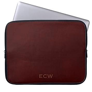 geordiet con sello marrón moteado Monogram neopreno, impermeable ordenador portátil mangas 12 ...