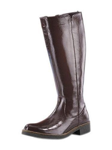 Damen Stiefel aus Lackleder in schoko braun Schoko Braun