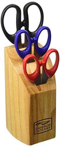 Chicago Cutlery High-Carbon Steel Scissor Block Set (4-Piece)