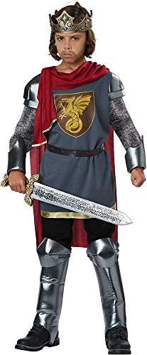 Mighty Warrior Medieval King Arthur Dragon Slayer Tunic Costume Child Boys