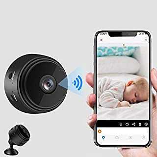 Mini Hidden Cameras with Audio, WiFi Wireless Hidden Mini Spy Camera 1080P HD Home Security Cams with Cell Phone App Recording, Portable Tiny Nanny Cam with Night Vision Motion Detection