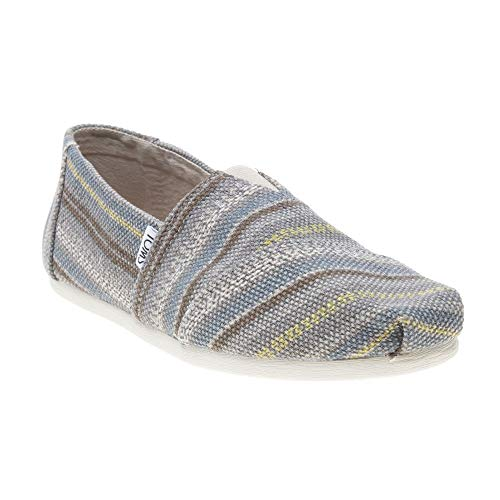 TOMS Classic Grey Cultural Stripe Woven Slip (Medium / 11 D(M) US) for $<!--$48.95-->