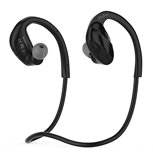 JinSun Bluetooth 4.1 Headset Ultra-light Wireless Sport MP3 Headphones with MIC and Volume Control, Built-in 8GB Memory, Sweatproof Running Stereo Earphones for Bluetooth Devices