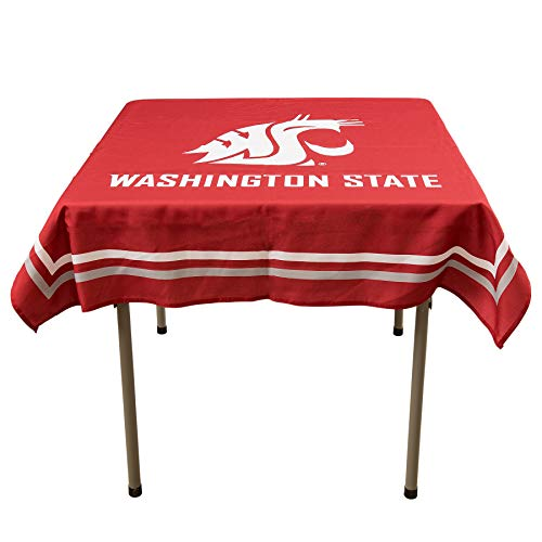 College Flags & Banners Co. Washington State Cougars Logo Tablecloth or Table Overlay (State Covers Washington Patio)