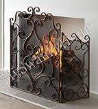 Designer Bronze Scroll Firescreen