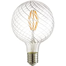 Sunlite LED Antique Filament Style 100W Equivalent G48 Globe Vintage Light Bulb with 2200K Mogul (E39) Base Clear Dimmable, Warm White