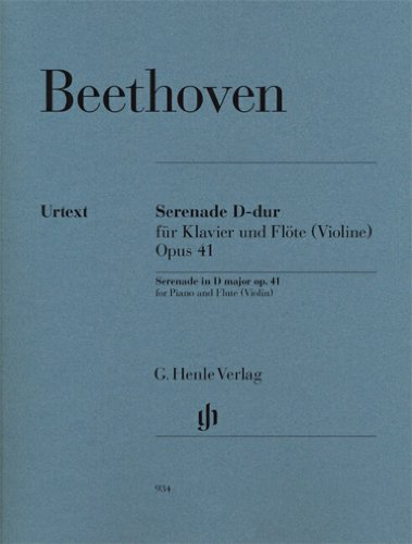Serenade for Piano and Flute (Violin) - op. 41 - D major - revised edition - ( HN 934 ) (English and German Edition)