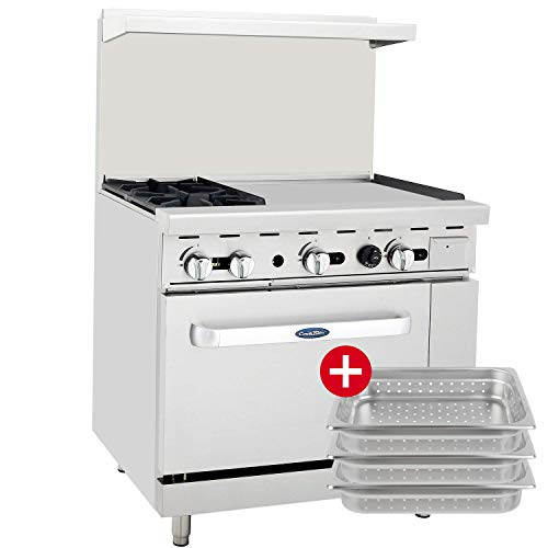 Burners 2 Ovens 36 Griddle - CookRite ATO-2B24G Commercial Restaurant 24