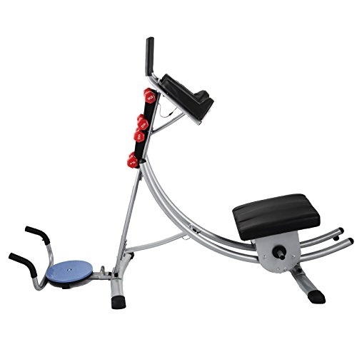 Popsport Abdomen Machine 330LBS Abdominal Coaster Abdomen Exercise Equipment with Adjustable Seat for Abdominal Muscle Training (Ab Coaster with 4 Dumbbells and wriggled Plate) by Popsport (Image #2)
