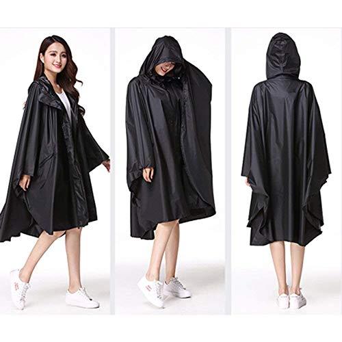 Schwarz Coat Long Poncho In Donna Yasminey Da Viaggio Riding Rainy Hooded Raincoat Chic Giovane Outdoor Abbigliamento Waterproof Rainwear 68F87T