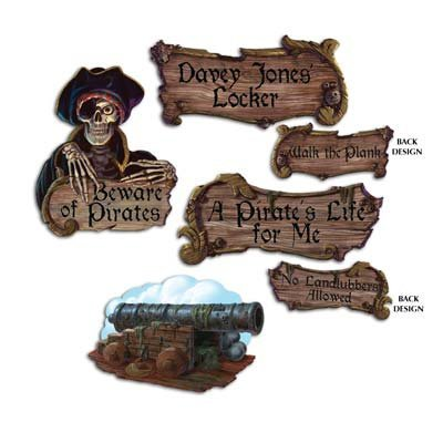 Pirate Cutouts   (4/Pkg) -