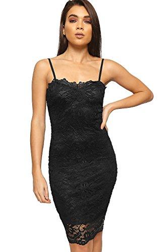 Kleid schwarz blumen spitze