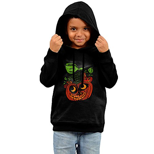 Halloween Pumpkin Stacking Little Boys Girls Pullover Hoodie Black (Stacking Pumpkin)