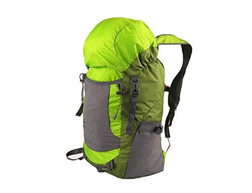 Xin.S Al Aire Libre Alpinismo Bolsa Ligero Plegable Mochila Viaje Montando Bolsa De Piel Mochila Al Aire Libre Multifuncional. Multicolor Green