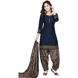 Kanchan Textiles Women's Faux Georgette Unstitched Salwar Suit Material (Multicolor_Free Size)
