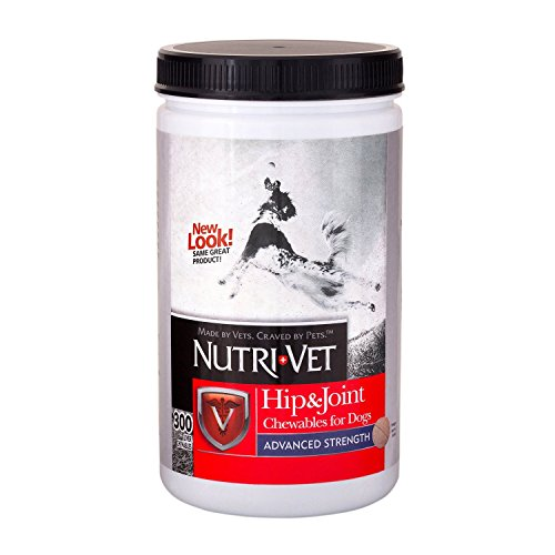 Nutri-Vet Hip & Joint Advanced Strength Chewables for Dogs (300ct w/Probiotic Gel)