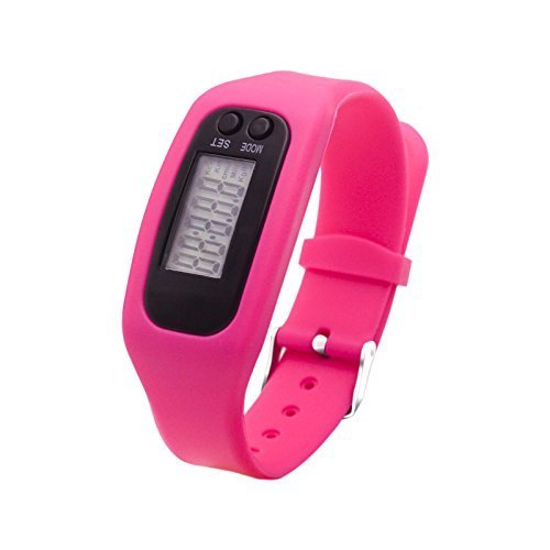 Fitness Tracker Watch, Simply Operation Walking Running Pedometer with Calorie Burning and Steps Counting(Pink)