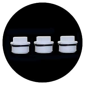 adhere to Fly rosca exterior Conector PVC Tubo Endkappen Tubo agujero Junta Tope de riego Herramientas, 1''