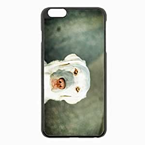 iPhone 6 Plus Black Hardshell Case 5.5inch - dogs bright sad Desin Images Protector Back Cover