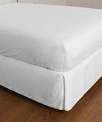 (Warm Things Home 360 Thread Count Cotton Percale Fitted Bottom Sheet (WHITE, Twin))