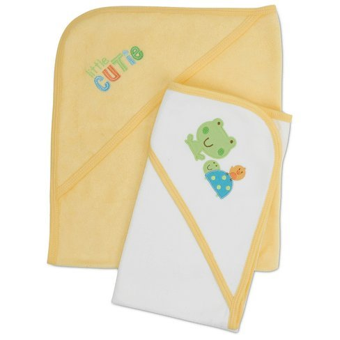 Little Cutie Giraffe Frogs Terry Hooded Bath Towels 2 Pack Gerber Girl or Boy (Terry Frog)