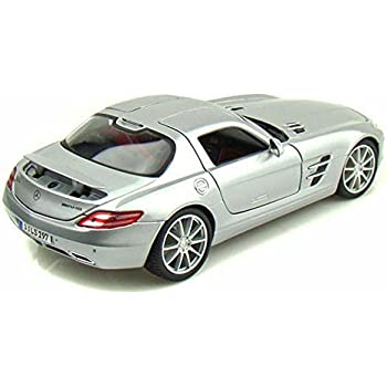 Mercedes Benz SLS AMG, Silver - Maisto Premiere 36196 - 1/18 Scale Diecast Model Toy Car
