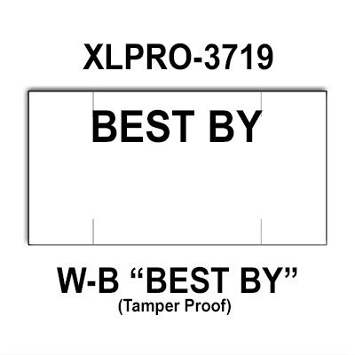 80,000 XLPro compatible 3719 ''Best By'' White General Purpose Labels to fit the XLPRO-3721-AB, XLPRO-3721-A1, XLPRO-37-47, XLPRO-37-7P Price Guns. Full Case. by Infinity Labels