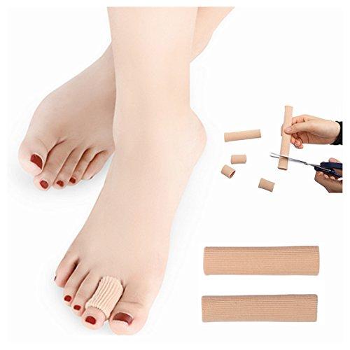 Kalevel 2pcs Large Toe Gel Tube Finger Protector Toe Separators for Bunions Sore Corns Hammertoes Gel Toe Separators Protector Toe Sleeves Protectors - Corn Soft