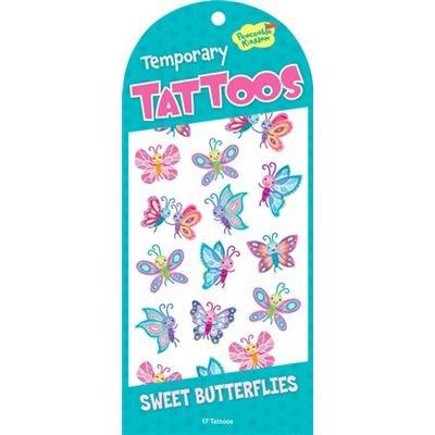 Butterflies Booklet (Peaceable Kingdom Sweet Butterflies Temporary Tattoos)