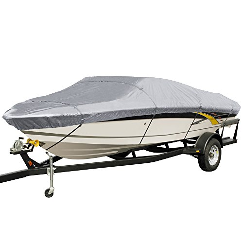 EmpireCovers Silver Fin Boat Covers: Fits 22-ft to 24-ft (beam width to 106-in)