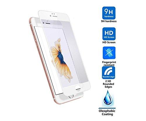 ELTD iPhone 7 Plus pellicola protettiva, tempered Glass Pellicola Protettiva Schermo per iPhone 7 Plus, Glass-Bianco