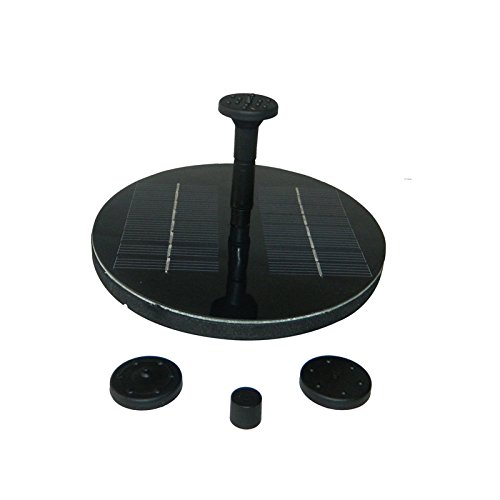 SHINA Gy-P-0014 Solar Powered Fountain Pool Garden Watering Kits Black, Suitable for Bird Bath Fish Tank Small Pond Garden Decoration Water Circulation for Oxygen
