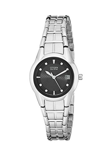 Eco Drive Black Dial Watch (Citizen Women's EW1410-50E Eco-Drive Stainless Steel Watch)
