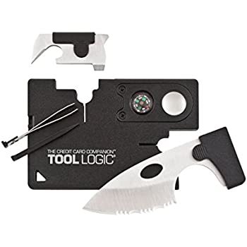 "Tool Logic Credit Card Companion with Lens/Compass CC1SB - 9 Tools, Black, 2"" Blade"