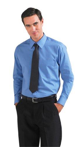 SOLS Herren Popeline-Langarmhemd Baltimore 16040 Middle Blue 4XL