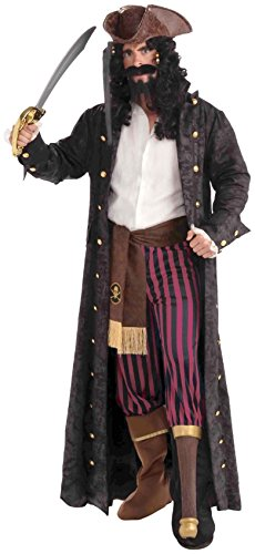 [Forum Novelties Men's Pirate Costume Coat, Black, Standard] (Pirate Coat For Sale)