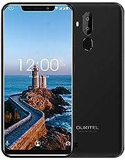 OUKITEL C12 Pro 4G Cellulari e Smartphone,6.18 Pollici (rapporto 19: 9), Dual SIM con Android 8.1, 3300 mAh Batteria, MTK6739 a 1,5 GHz,Quad Core 2GB RAM 16GB ROM, Fingerprint Face ID