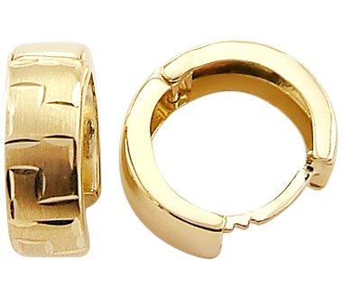 14k Yellow Gold Small Elegant Hoop Huggie Earrings .5