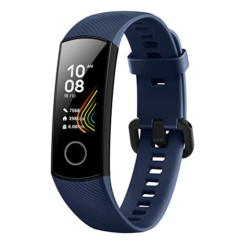 HONOR Band 5 (MidnightNavy)- Waterproof Full Color AMOLED Touchscreen, SpO2 (Blood Oxygen), Music Control, Watch Faces…